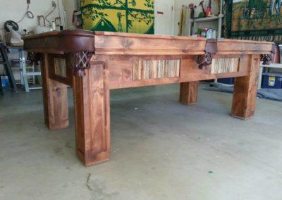 rustic pool table