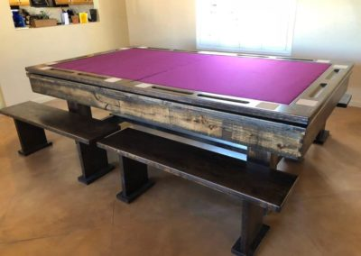 denver pool table with poker top