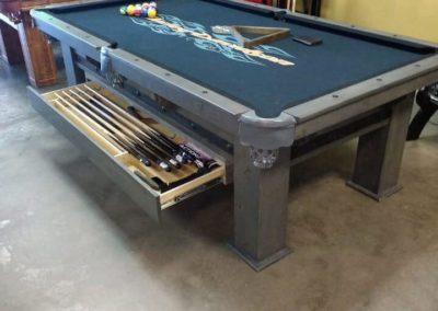 wilcox pool table with a drawer